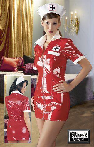 """Image of   Black Level Lak-sæt """"sygeplejerske"""" rød"""