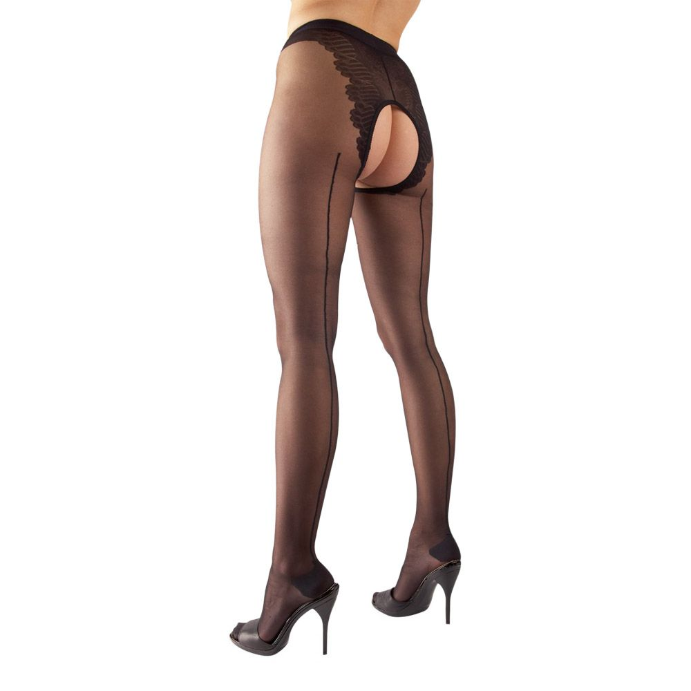 Billede af Cottelli Collection - Crotchless tights
