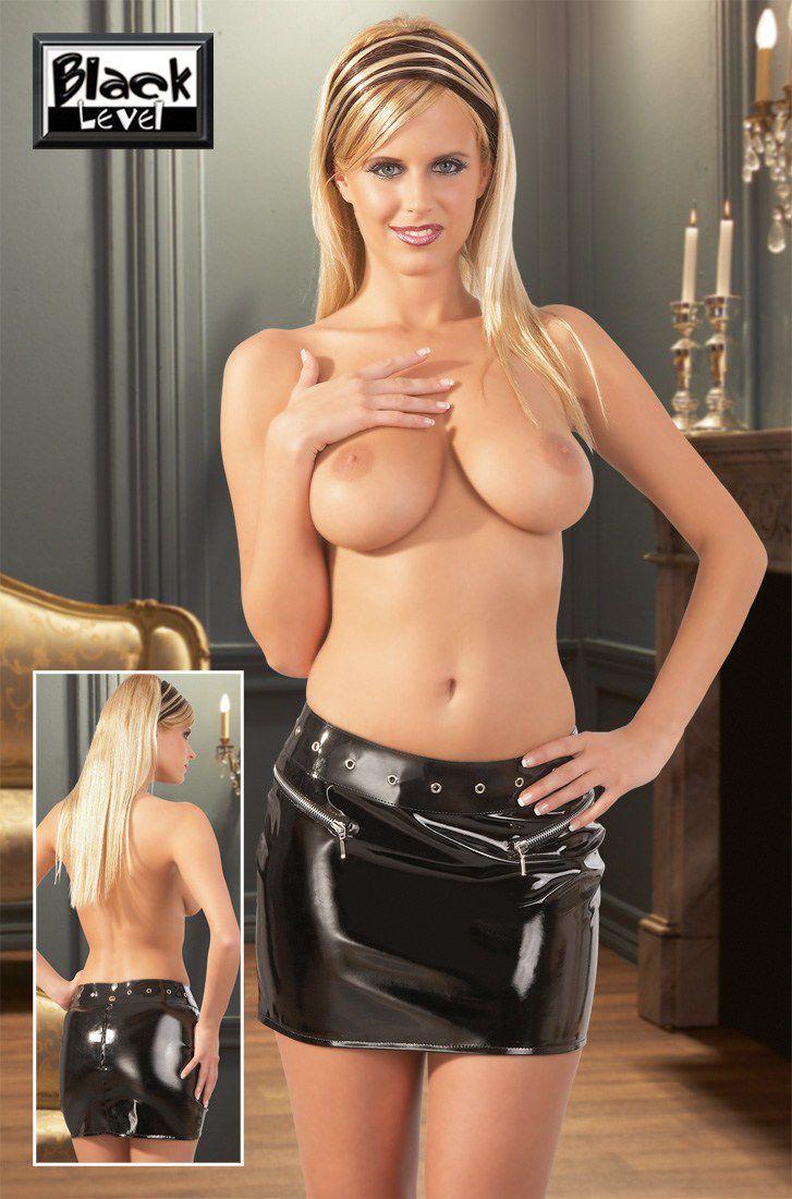 Image of   Black Level - Vinyl Mini Skirt-XXL