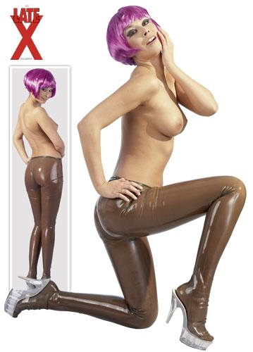 Latex tights smoke-M