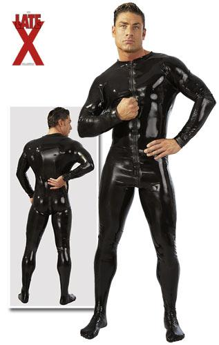 LATE X – Mens Latex Jumpsuit