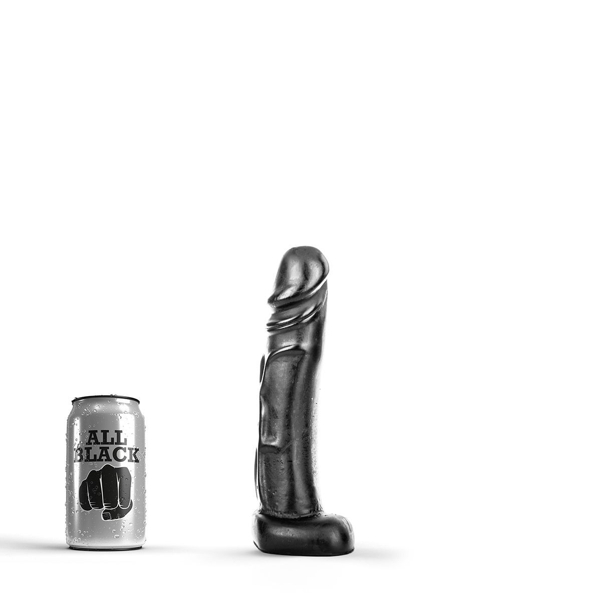 Image of   All Black 2 - realistisk anal dildo
