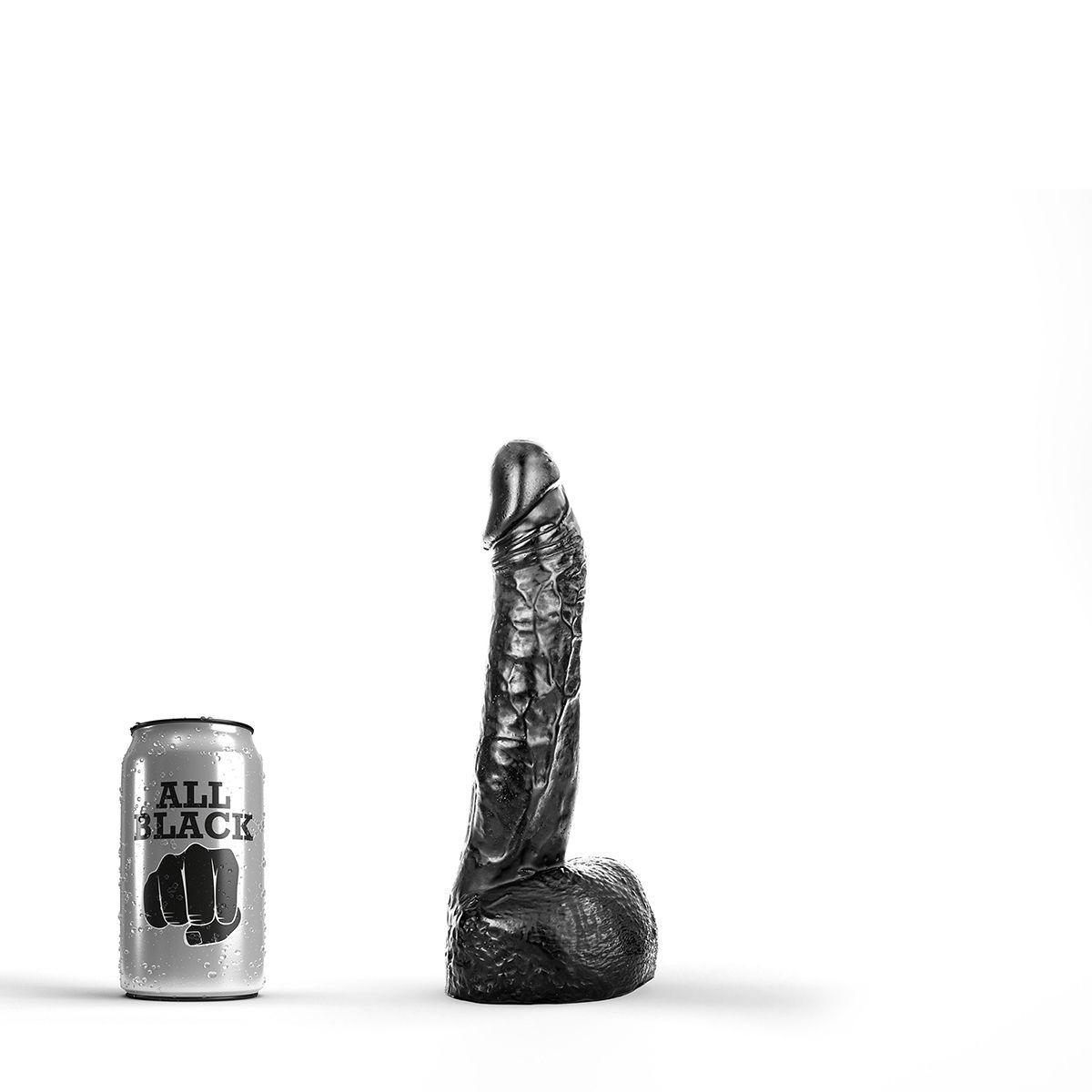 Image of All Black 11 - realistisk anal dildo