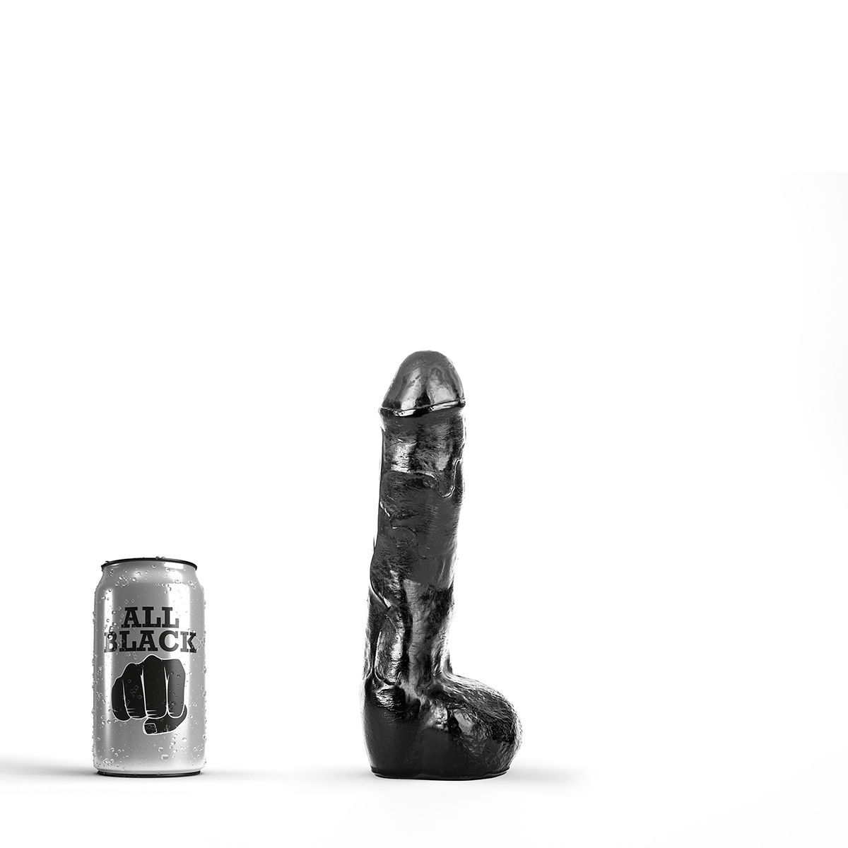 Image of   All Black 12 - realistisk anal dildo