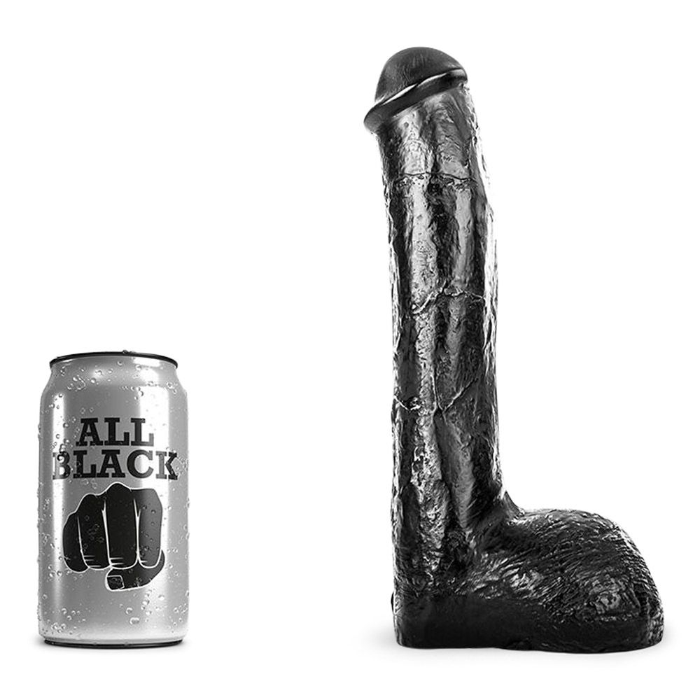 Image of   All Black 14 - realistisk anal dildo