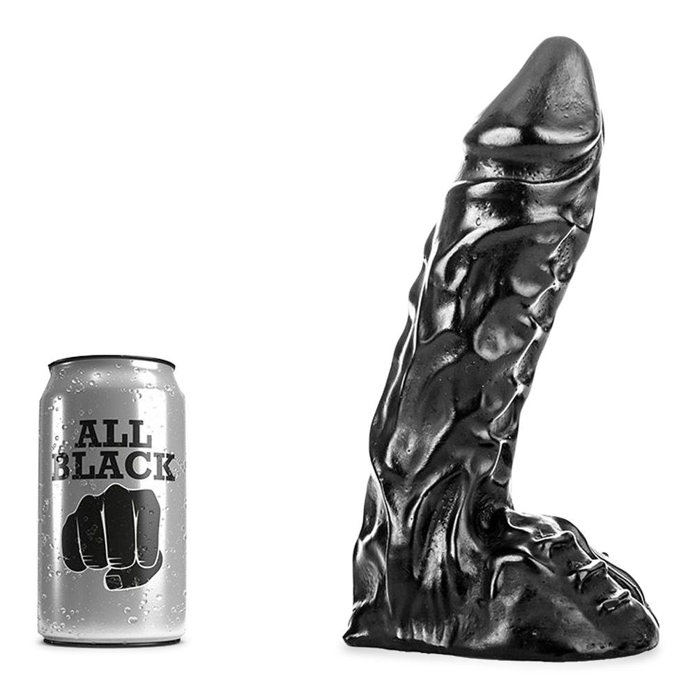 Image of   all-black-27-flæsket-dildo