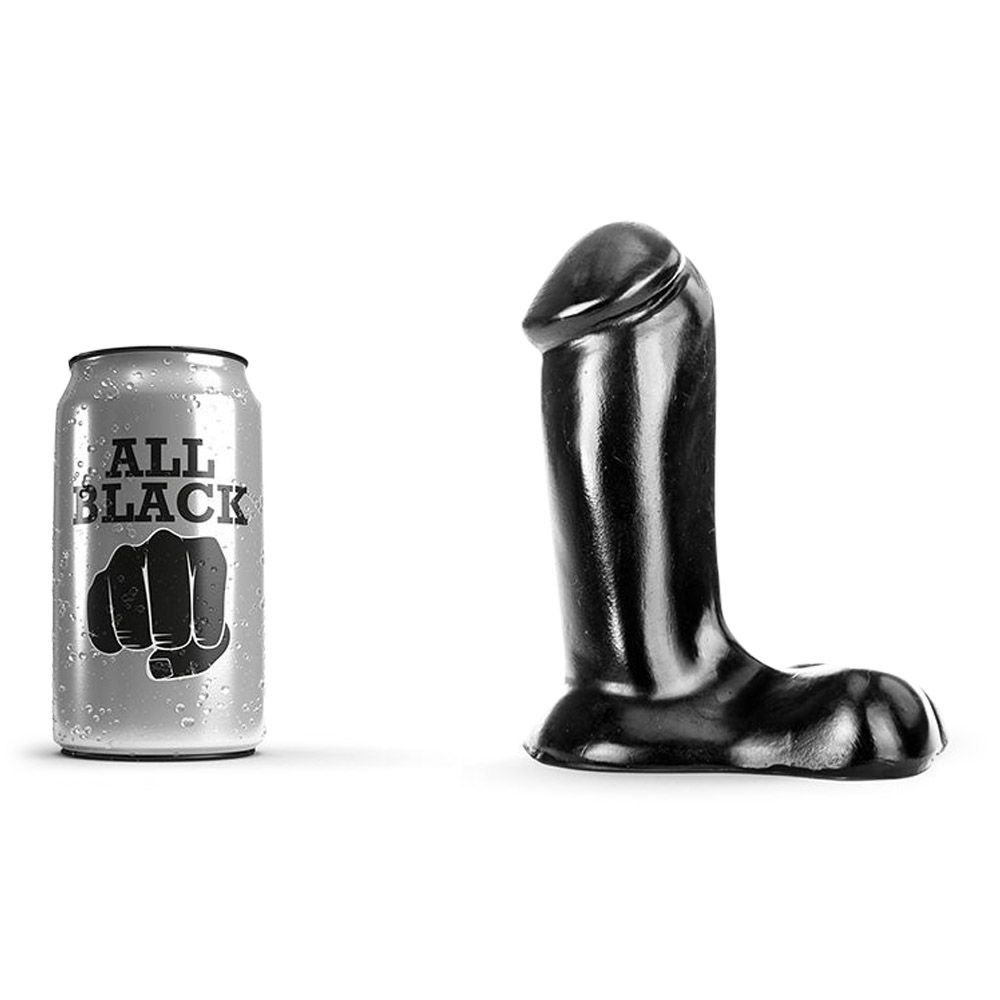 Image of   All black 43 - realistisk anal dildo