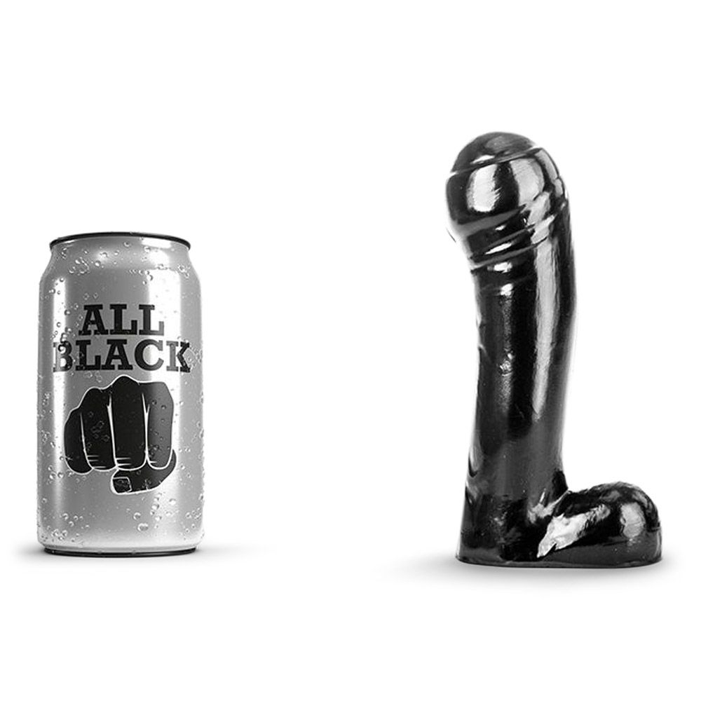 Image of   All Black 44 - Realistisk Dildo Med Stort Hoved