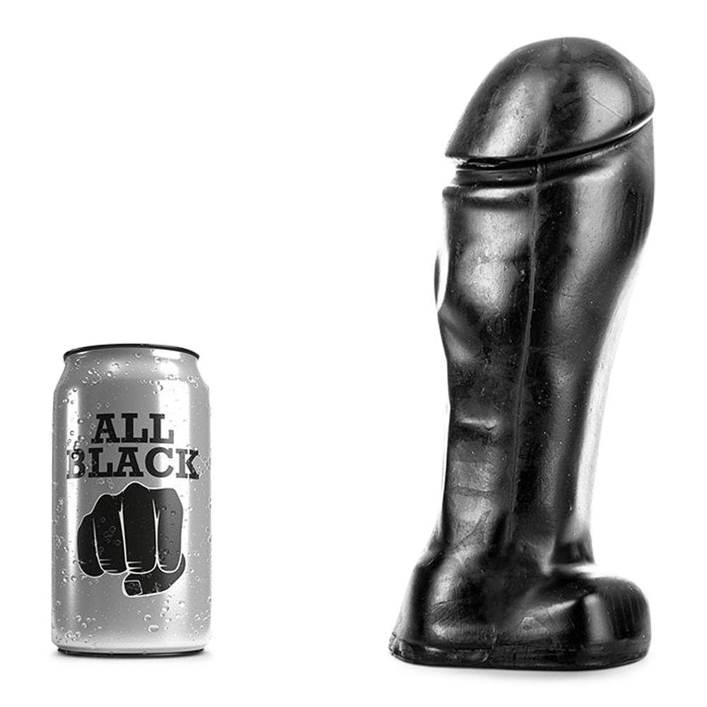 Image of   All black - 48 bred dildo