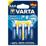 VARTA high energy aaa batterier 4stk