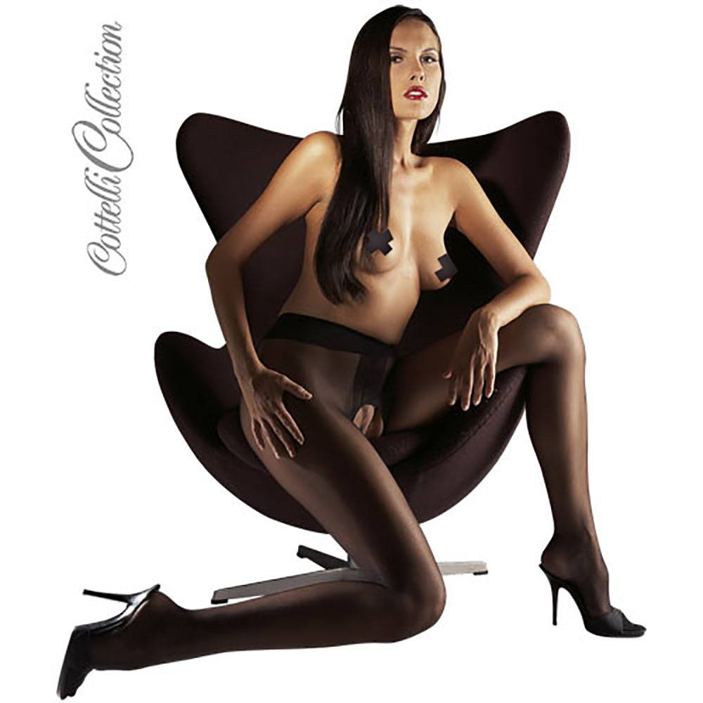 Image of   Crotchless Tights black XL