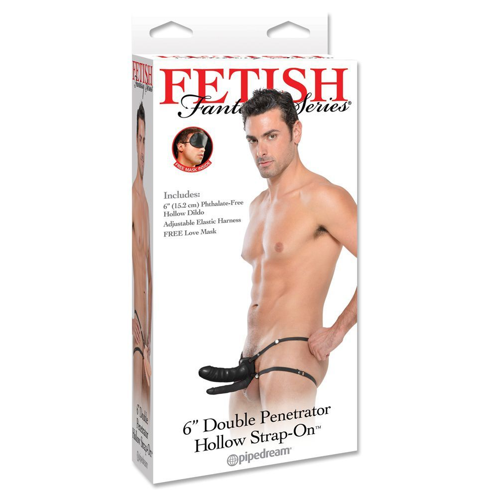 Fetish Fantasy Dobbelt Hollow Strap-on - sort
