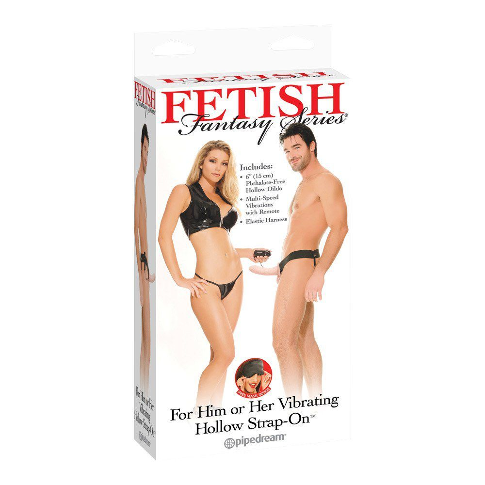 Fetish Fanatasy Hollow Strap-on Vibrator - hudfarvet