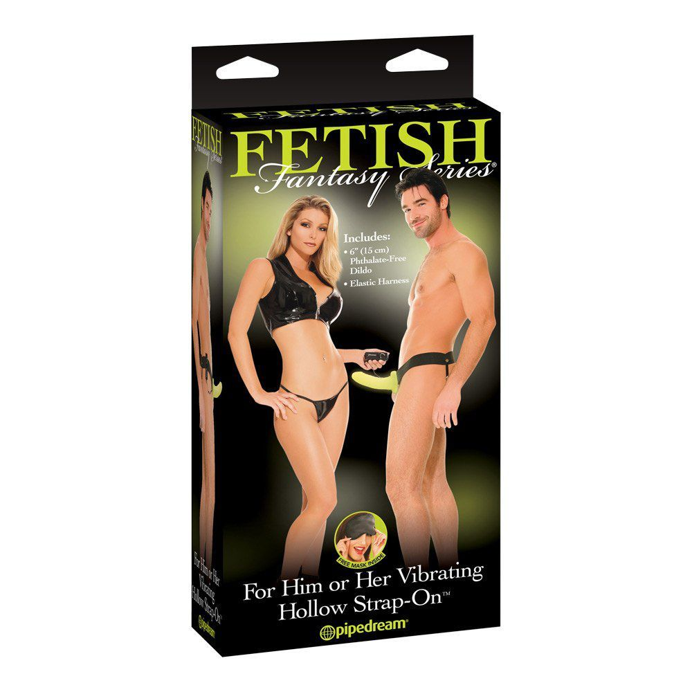 Fetish Fanatasy Hollow Strap-on Vibrator - selvlysende