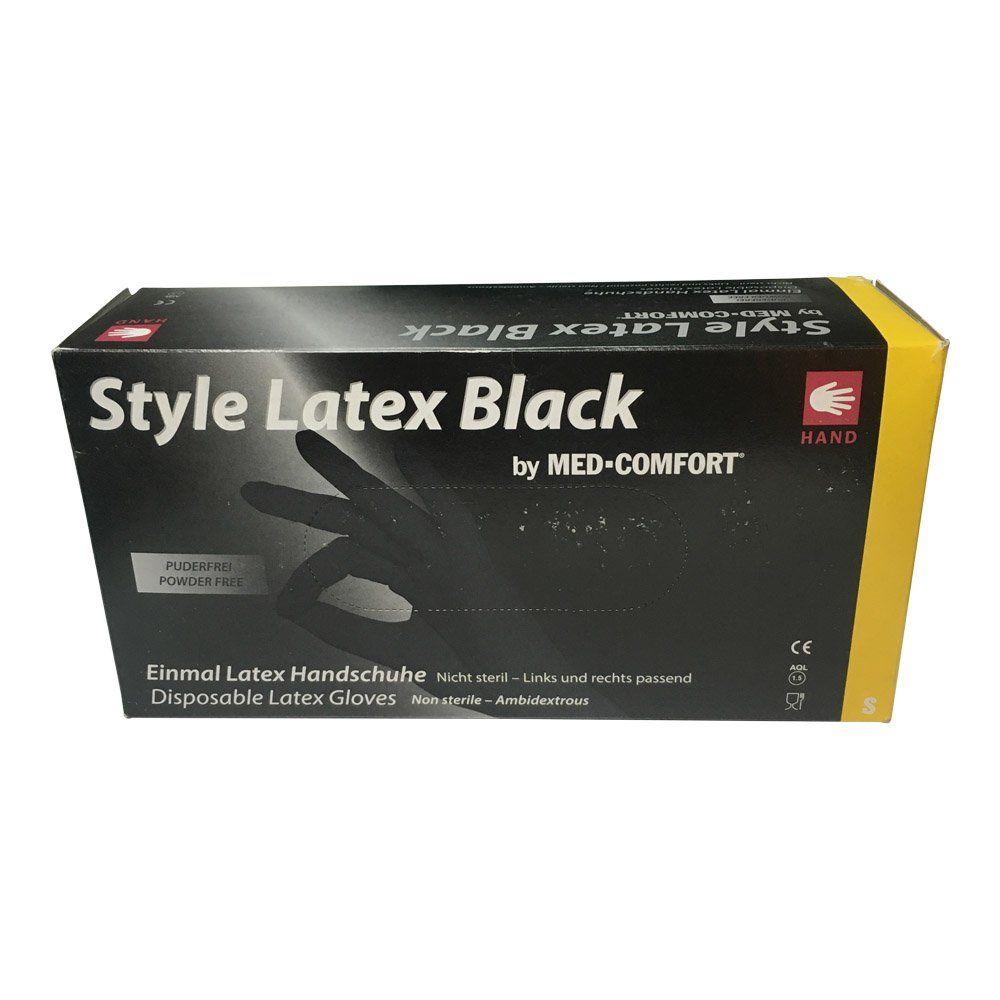 Image of   BLACK NINJA ENGANGSHANDSKER I LATEX-Small