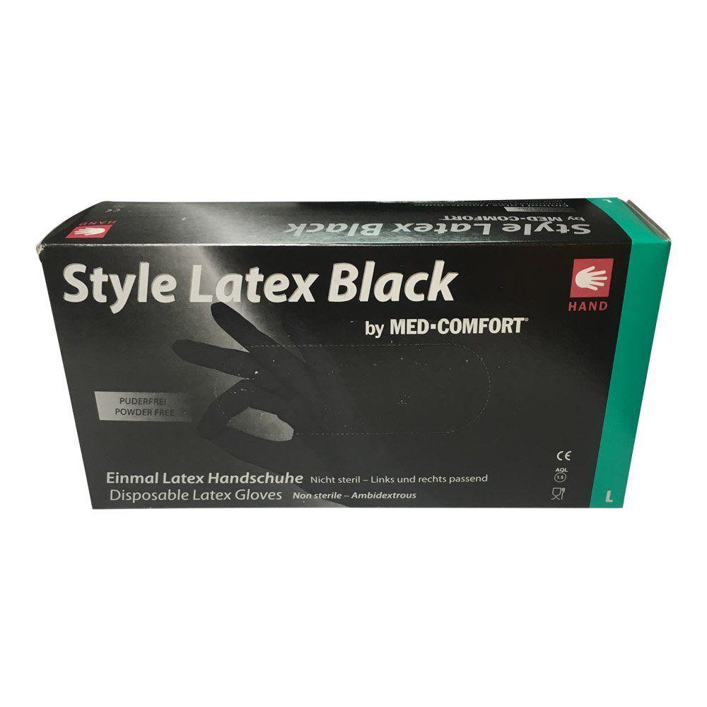 Image of   BLACK NINJA ENGANGSHANDSKER I LATEX-Large