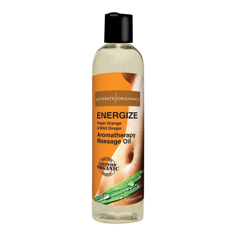 Image of   Intimate Organics Aromatherapy - Massageolie Med Duft - energize - 120 ml