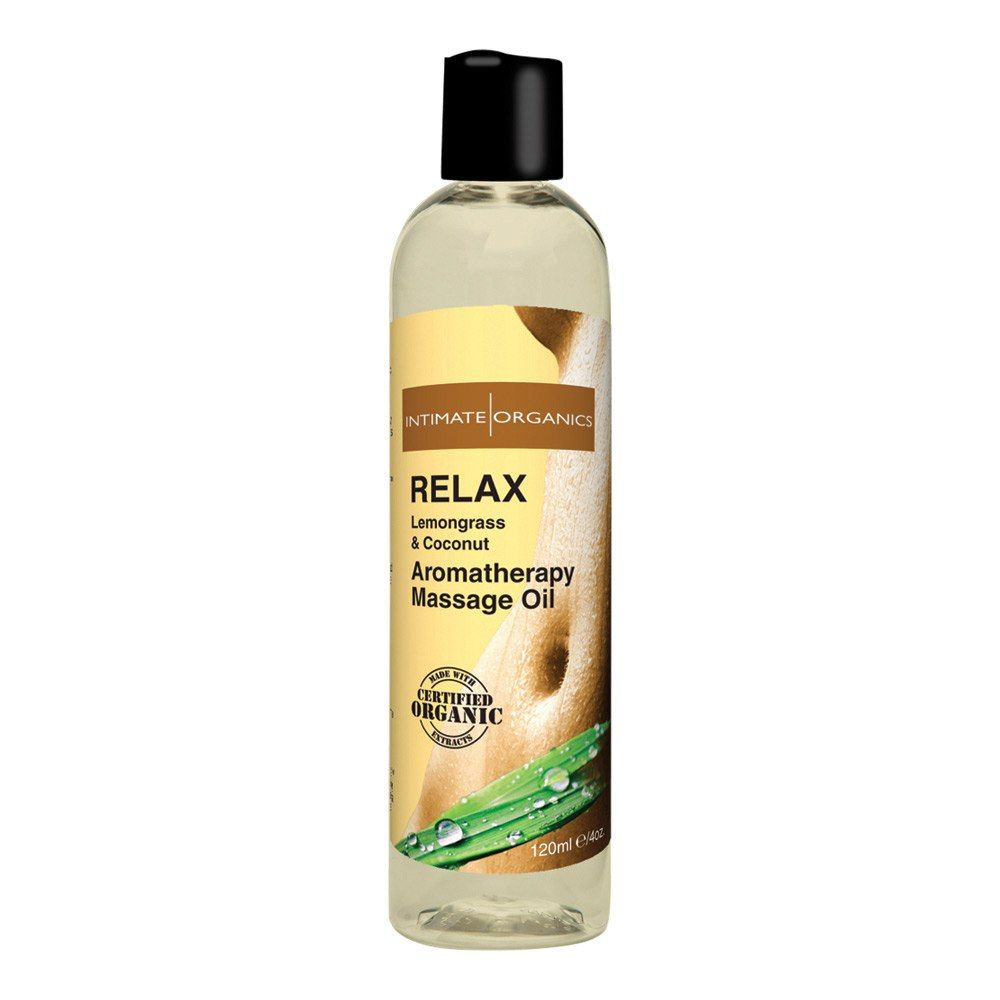 Image of   Intimate Organics Aromatherapy - Massageolie Med Duft - relax -120 ml