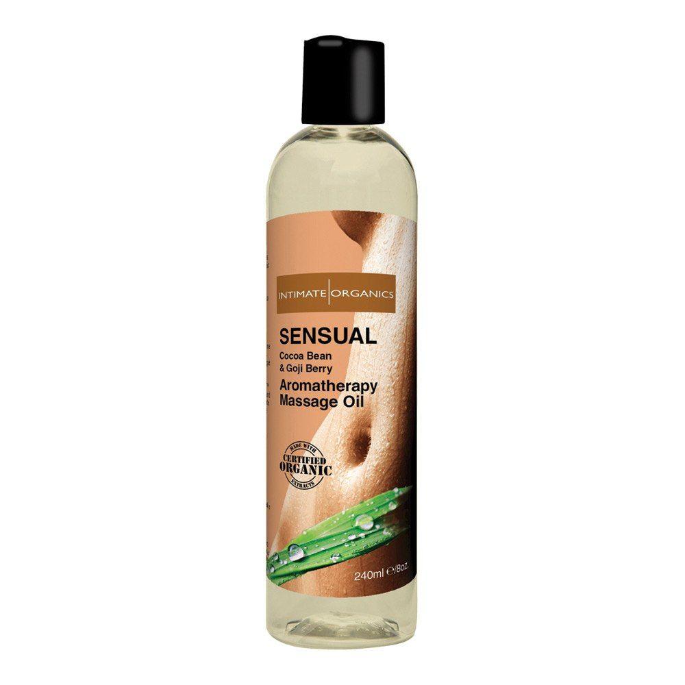 Image of   Intimate Organics Aromatherapy - Massageolie Med Duft - sensual - 240 ml