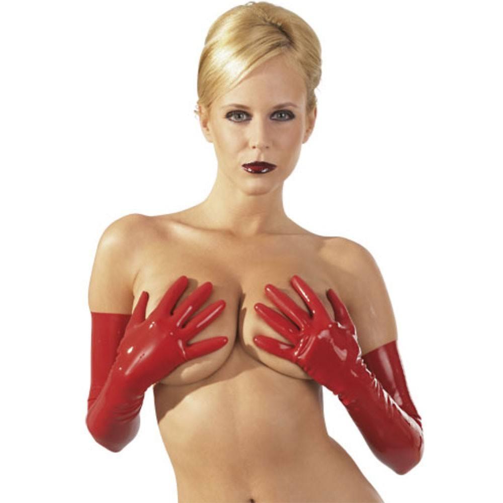 Latex Handsker Røde-L