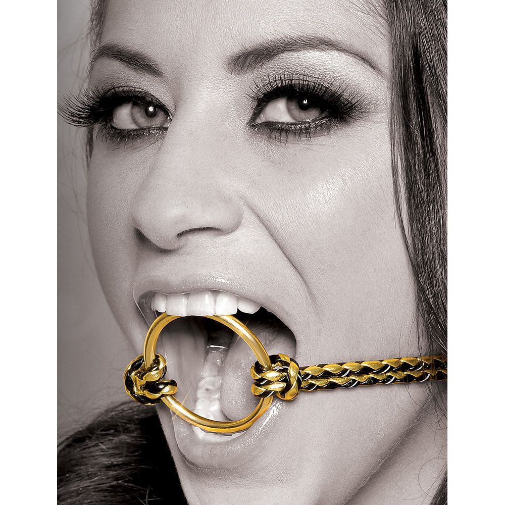 Image of   Fetish Fantasy Gold Open Mouth Gag