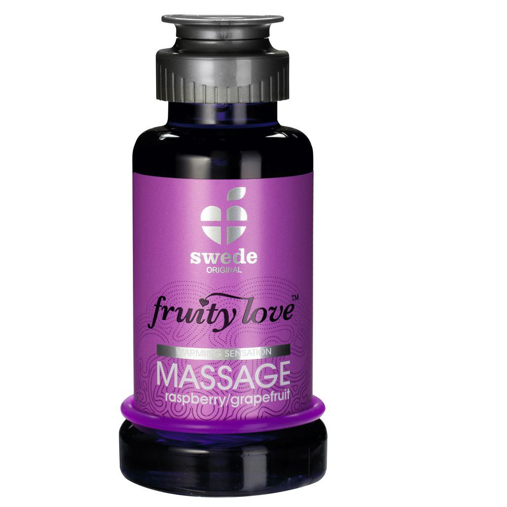 Image of   Swede Fruity Love - Massageolie - hindbær/grape