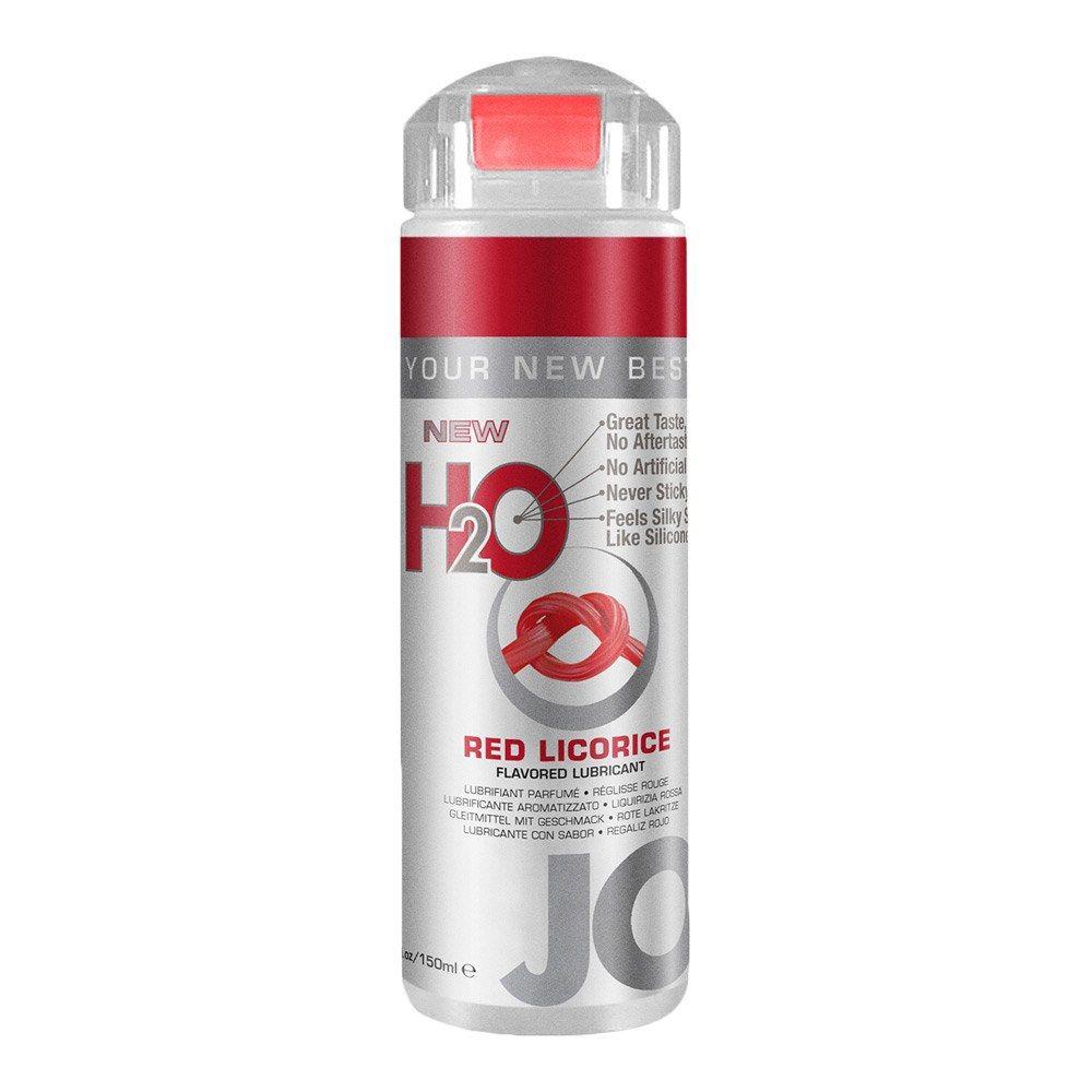 Image of   System JO H2O Flavored Vandbaseret Glidecreme Med Smag - rød lakrids