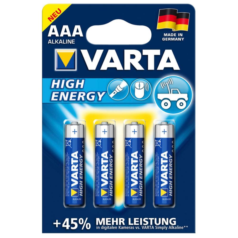 Billede af 210th, VARTA high energy aaa batterier 4stk